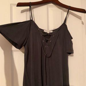 Tops - Tank Top/Short Sleeve Lace Up Shirt